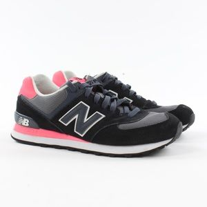 New Balance WL574CPL Black/Pink Women's Sneakers.